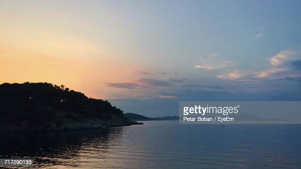 scenic view of sea against sky - boban stock pictures, royalty-free photos & images