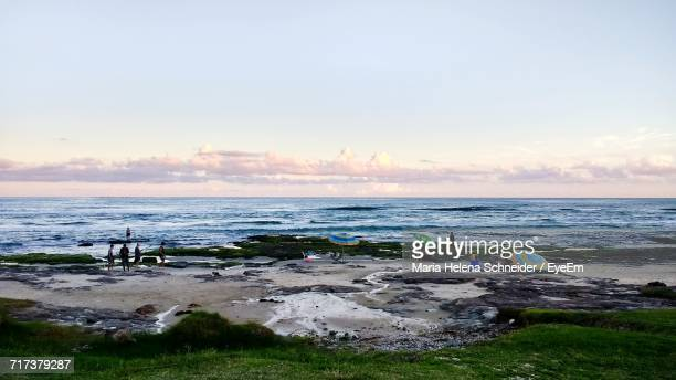 scenic view of sea against sky - helena schneider stock pictures, royalty-free photos & images