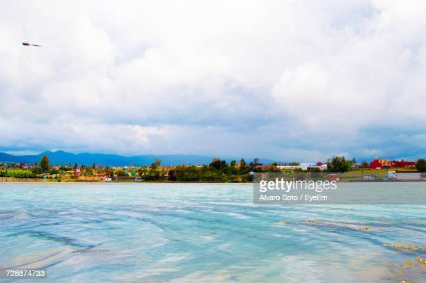 scenic view of sea against sky - tlaxcala state stock photos and pictures