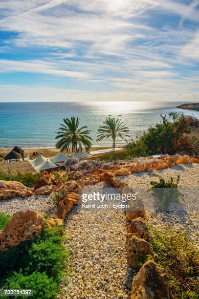 scenic view of sea against sky - republic of cyprus stock pictures, royalty-free photos & images