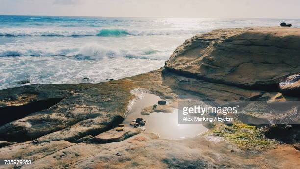 scenic view of sea against sky - carlsbad california stock pictures, royalty-free photos & images