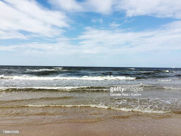 scenic view of sea against sky - danielle reid stock pictures, royalty-free photos & images