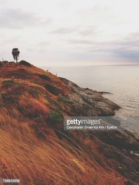 scenic view of sea against sky - ksi stock photos and pictures