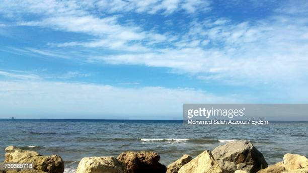 scenic view of sea against sky - salah stock photos and pictures