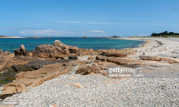 scenic view of sea against sky - marek stefunko stock photos and pictures