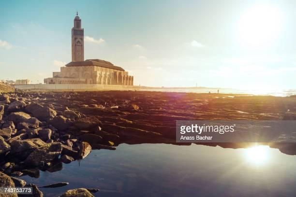 scenic view of sea against sky - casablanca photos et images de collection