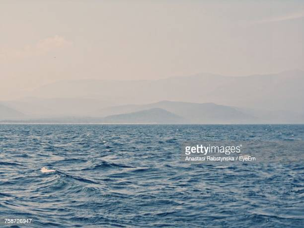 scenic view of sea against sky - anastasi foto e immagini stock