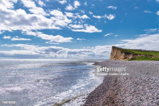 scenic view of sea against sky - funen stock pictures, royalty-free photos & images