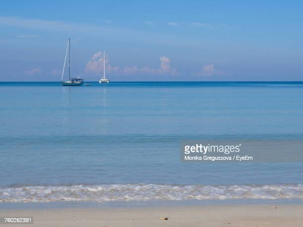 scenic view of sea against sky - monika gregussova stock pictures, royalty-free photos & images