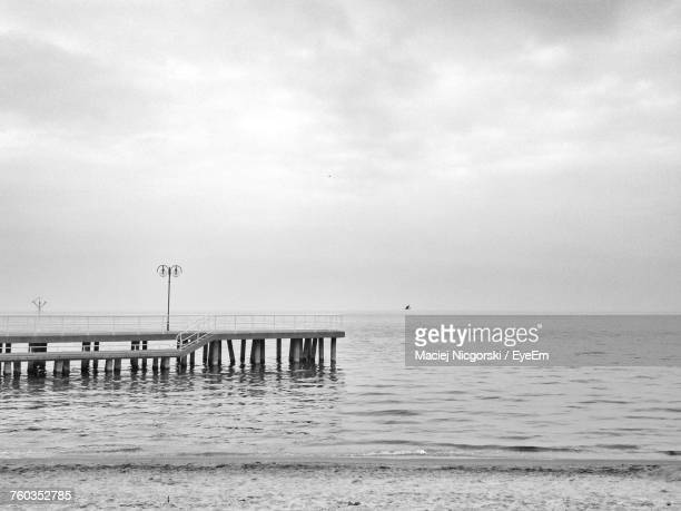 scenic view of sea against sky - pomorskie province stock photos and pictures