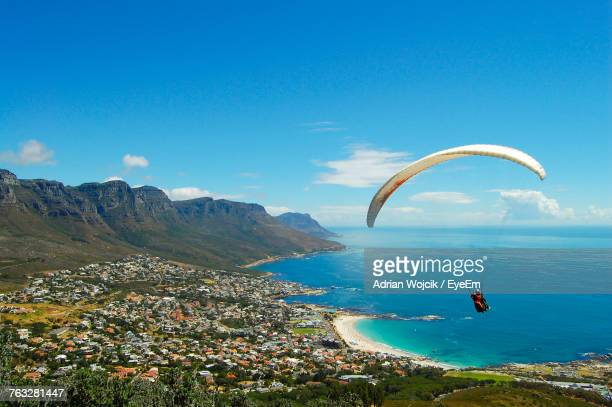 scenic view of sea against sky - cape town stock pictures, royalty-free photos & images
