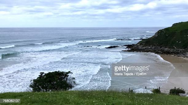 scenic view of sea against sky - maria tejada stock pictures, royalty-free photos & images
