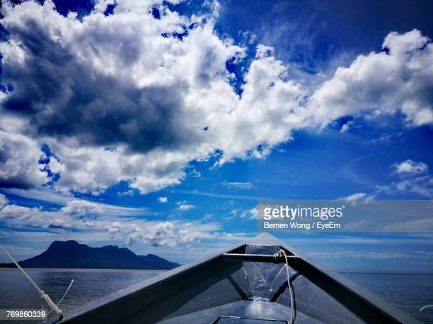 scenic view of sea against sky - bako national park stock pictures, royalty-free photos & images