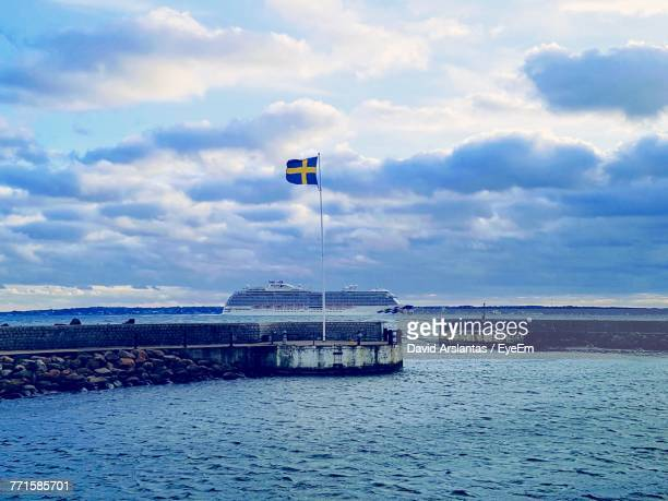 scenic view of sea against sky - helsingborg stock pictures, royalty-free photos & images