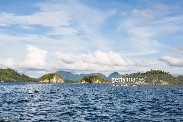 scenic view of sea against sky - didier marti stock photos and pictures
