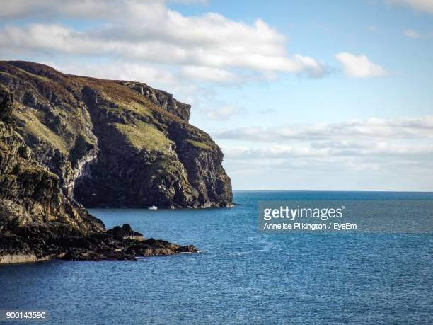 scenic view of sea against sky - irish sea stock pictures, royalty-free photos & images