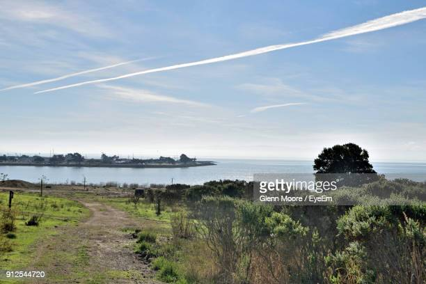 scenic view of sea against sky - hayward california stock pictures, royalty-free photos & images