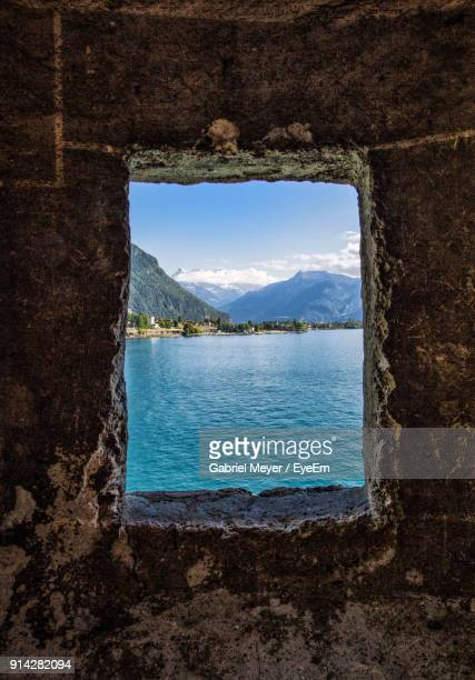 scenic view of sea against sky - montreux stock pictures, royalty-free photos & images