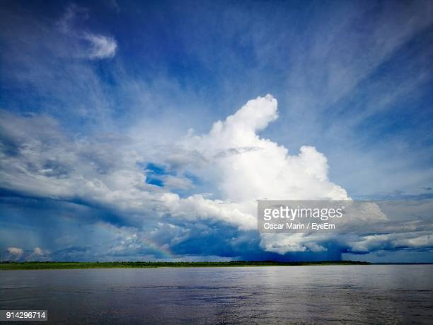 scenic view of sea against sky - oscar marin stock photos and pictures