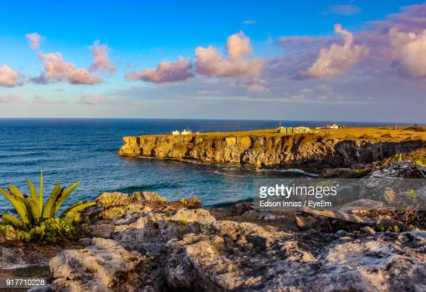 scenic view of sea against sky - bridgetown barbados stock pictures, royalty-free photos & images