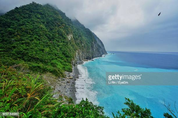 scenic view of sea against sky - hualien county stock pictures, royalty-free photos & images