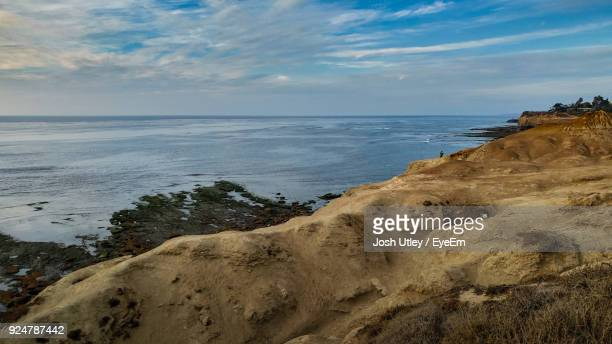 scenic view of sea against sky - josh utley stock pictures, royalty-free photos & images