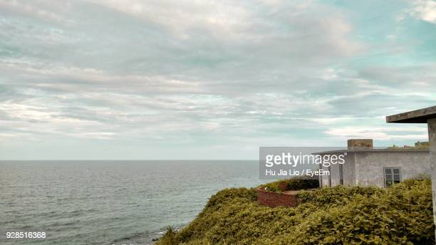 scenic view of sea against sky - zhanjiang stock photos and pictures