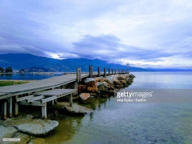 scenic view of sea against sky - volos stock pictures, royalty-free photos & images