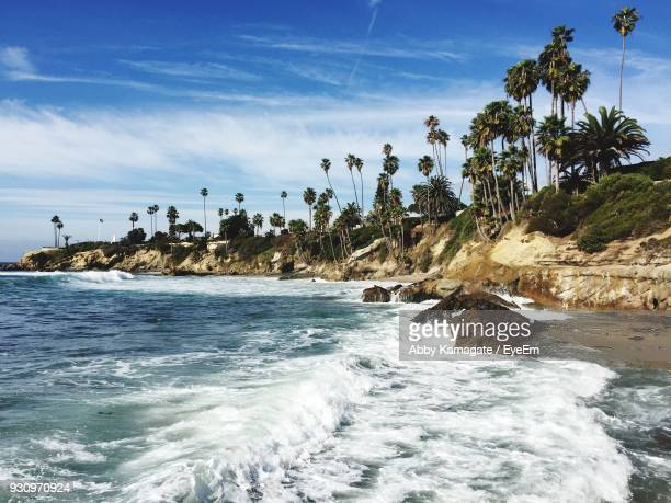 scenic view of sea against sky - laguna beach california stock pictures, royalty-free photos & images