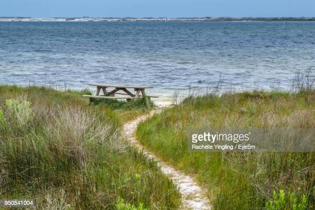 scenic view of sea against sky - pensacola beach stock pictures, royalty-free photos & images