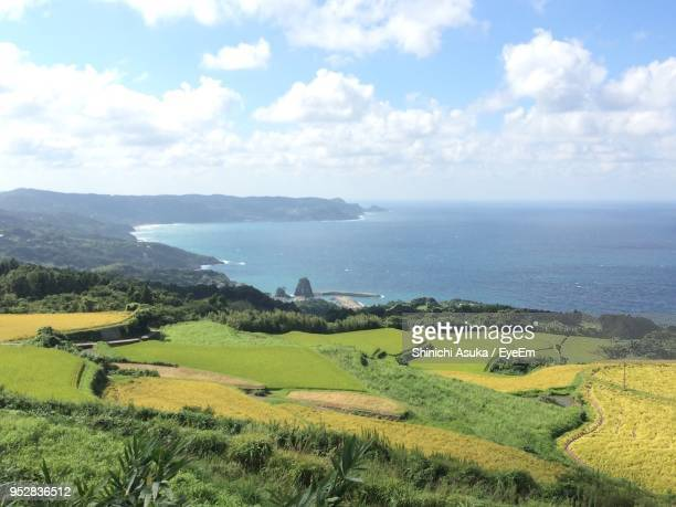 scenic view of sea against sky - asuka stock pictures, royalty-free photos & images