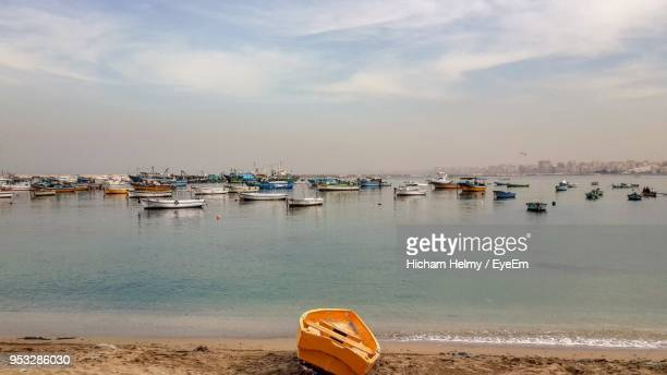 scenic view of sea against sky - alexandria stock pictures, royalty-free photos & images