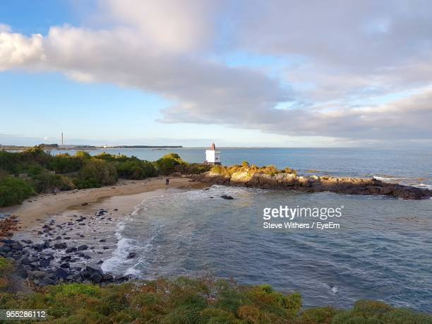scenic view of sea against sky - invercargill stock pictures, royalty-free photos & images