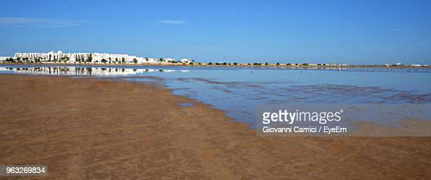 scenic view of sea against sky - djerba stock pictures, royalty-free photos & images