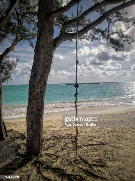 scenic view of sea against sky - kailua beach stock photos and pictures