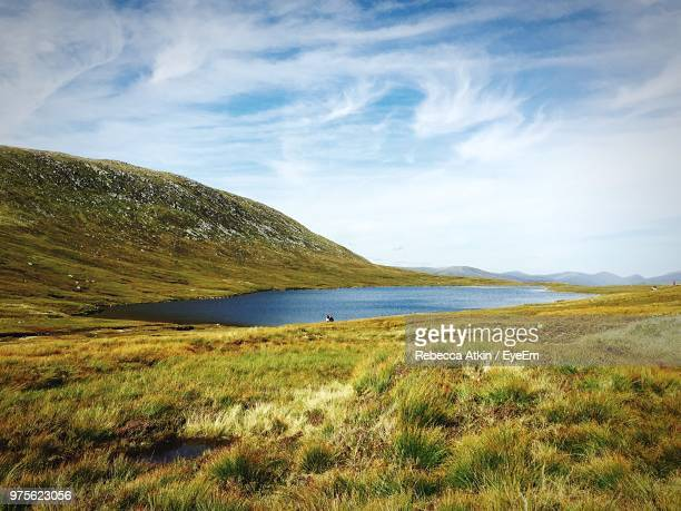 scenic view of sea against sky - grampian scotland stock pictures, royalty-free photos & images