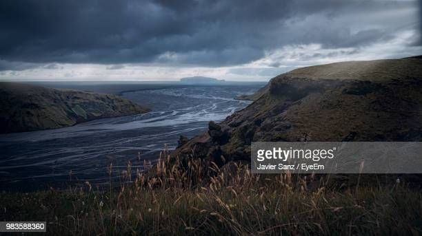 scenic view of sea against sky - selfoss stock photos and pictures