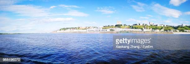 scenic view of sea against sky - nizhny novgorod oblast stock photos and pictures