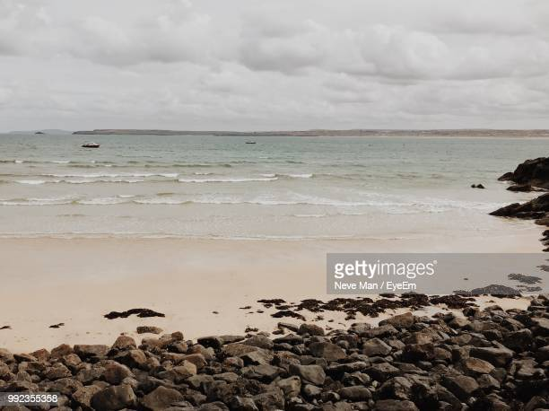 scenic view of sea against sky - st ives stock pictures, royalty-free photos & images