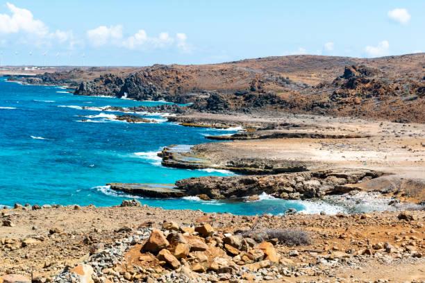 Scenic view of sea against sky,Aruba
