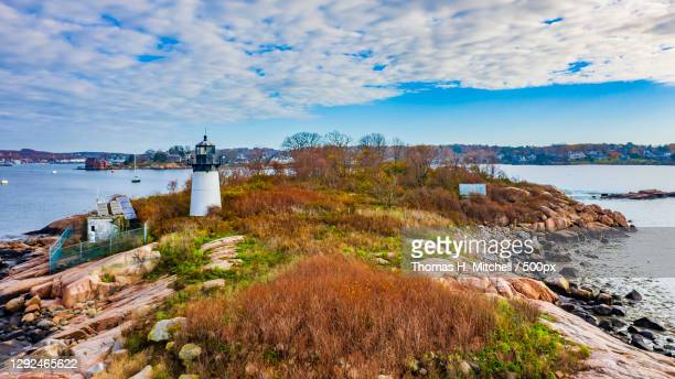 scenic view of sea against sky,gloucester,united states,usa - massachusetts stock pictures, royalty-free photos & images