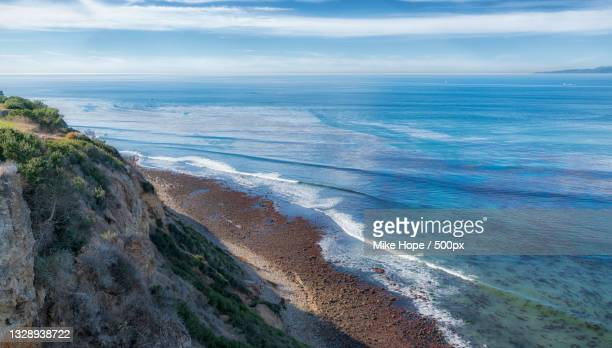 scenic view of sea against sky,rancho palos verdes,california,united states,usa - rancho palos verdes stock pictures, royalty-free photos & images