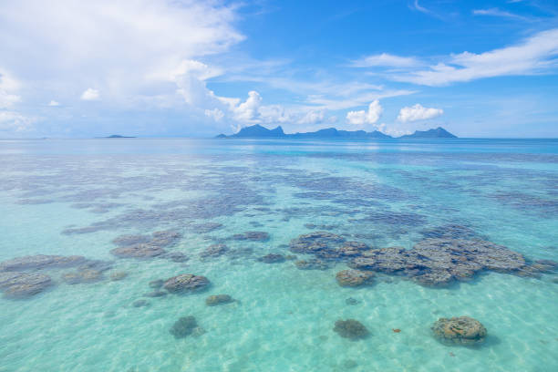 Scenic view of sea against sky,Semporna,Sabah,Malaysia