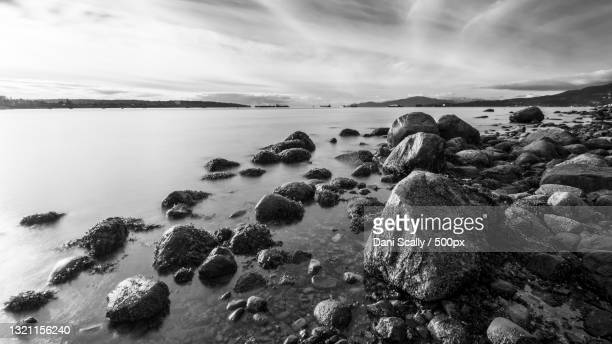scenic view of sea against sky,vancouver,british columbia,canada - nature stock pictures, royalty-free photos & images