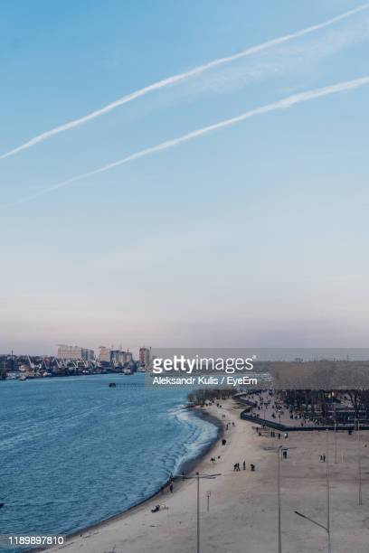scenic view of sea and buildings against sky - rostov on don stock pictures, royalty-free photos & images