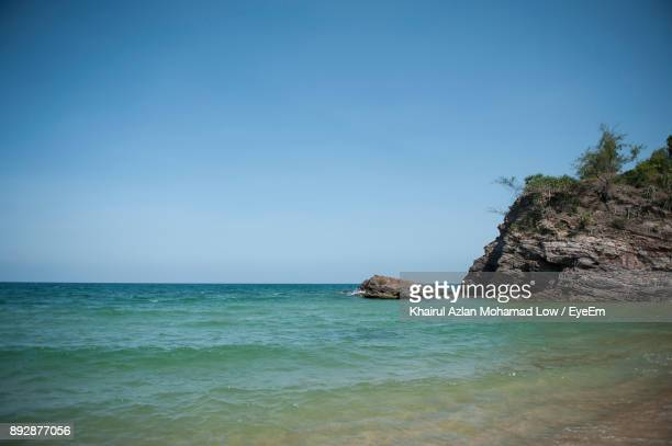 scenic view of sea and clear sky - terengganu stock pictures, royalty-free photos & images