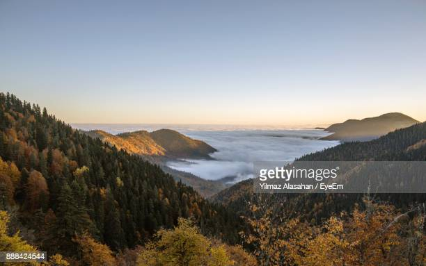 scenic view of sea and mountains against clear sky - ankara turkey stock pictures, royalty-free photos & images