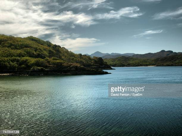 Loch gairloch stock photos and pictures getty images scenic view of sea and mountains against sky malvernweather Choice Image