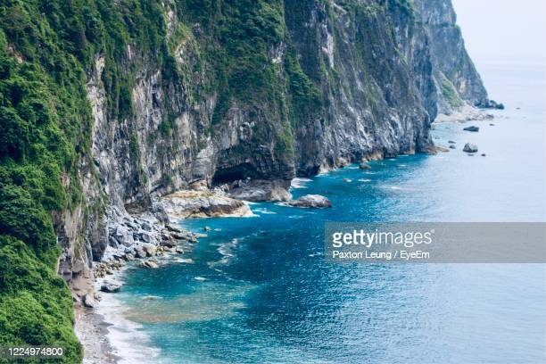 scenic view of sea and rocks - hualien county stock pictures, royalty-free photos & images