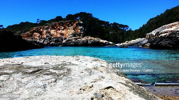 scenic view of sea and rocks - lopez stock pictures, royalty-free photos & images